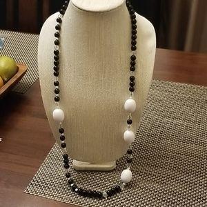Like New Bllack & White Monet Necklace